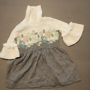 Janie and Jack Floral Sweater dress NWOT